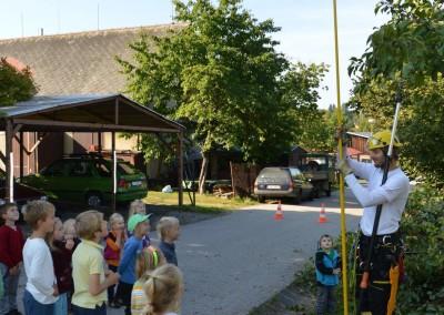 Představujeme obor stromolezení školákům ze školy NA horu Jilemnice (8)