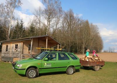 Příprava dřeva na nadcházející zimu